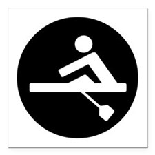 """Rowing Square Car Magnet 3"""" x 3"""""""