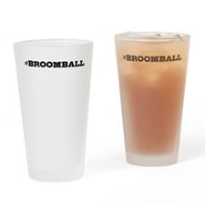 Broomball Hashtag Drinking Glass