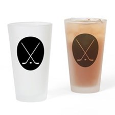 Hockey Sticks Drinking Glass