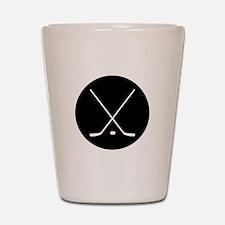 Hockey Sticks Shot Glass