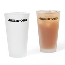 Beerpong Hashtag Drinking Glass