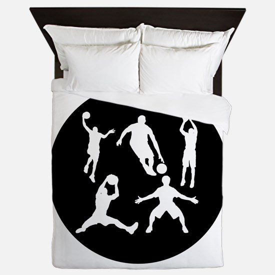 Basketball Players Queen Duvet