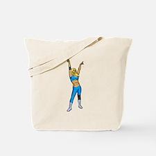 Female Wrestler Tote Bag