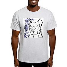 Tribull Life 'Blue' Ash Grey T-Shirt