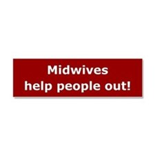 Midwives Car Magnet 10 x 3