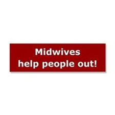 Unique Midwife Car Magnet 10 x 3