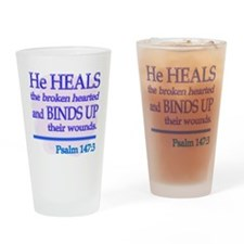 He Heals Drinking Glass