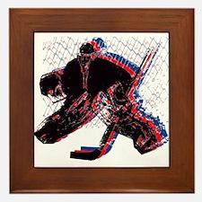 Hockey Goaler Framed Tile