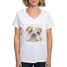 English Bulldog Drawing T-Shirt