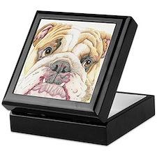 English Bulldog Drawing Keepsake Box