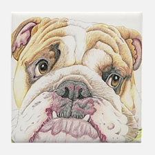 English Bulldog Drawing Tile Coaster