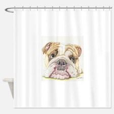 English Bulldog Drawing Shower Curtain