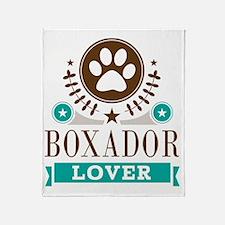 Boxador Dog Lover Throw Blanket