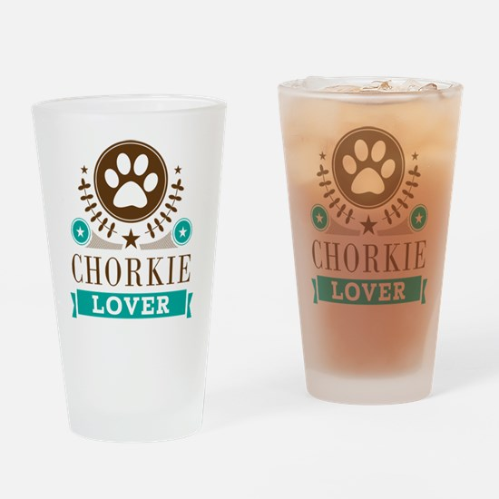 Chorkie Dog Lover Drinking Glass
