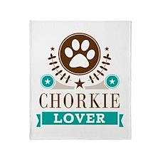 Chorkie Dog Lover Throw Blanket