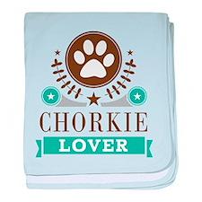 Chorkie Dog Lover baby blanket