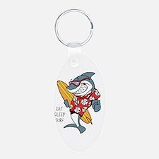 Surfing shark Keychains