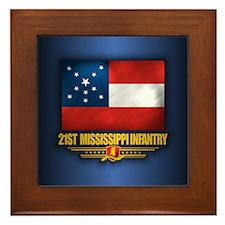 21st Mississippi Infantry (Flag 10).png Framed Til