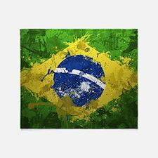 Brazilian Flag Throw Blanket
