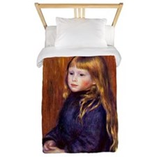 Renoir - Seated Child in a Blue Dress Twin Duvet