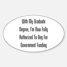 Graduate Degree Benefits Decal
