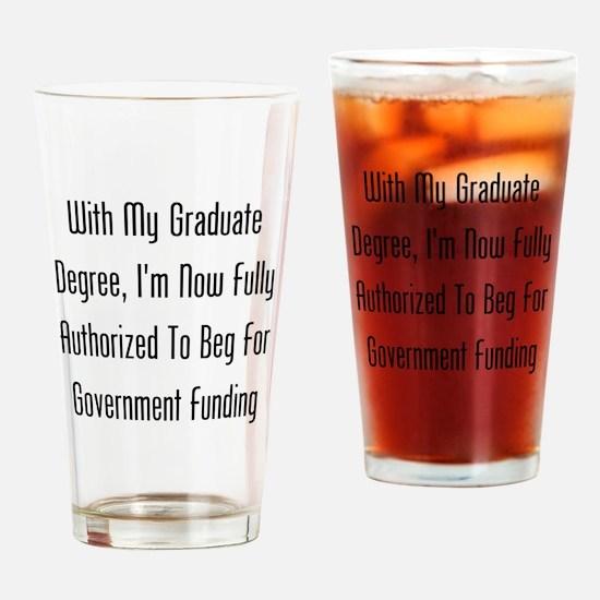 Graduate Degree Benefits Drinking Glass