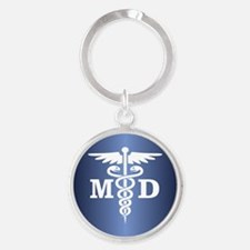 Caduceus MD (blue) Keychains