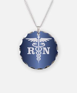 Caduceus RN (blue) Necklace