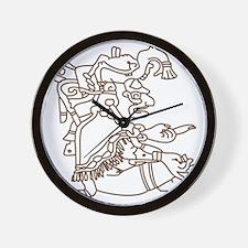 Mayan Art Wall Clock