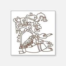 "Mayan Art Square Sticker 3"" x 3"""