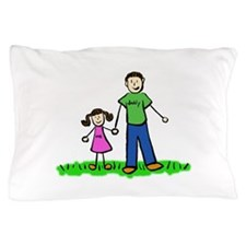 Father and Daughter (Brunette) Pillow Case