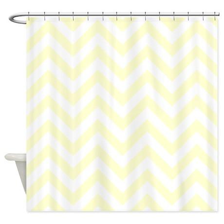Light Yellow Chevrons Shower Curtain By Erics Designz