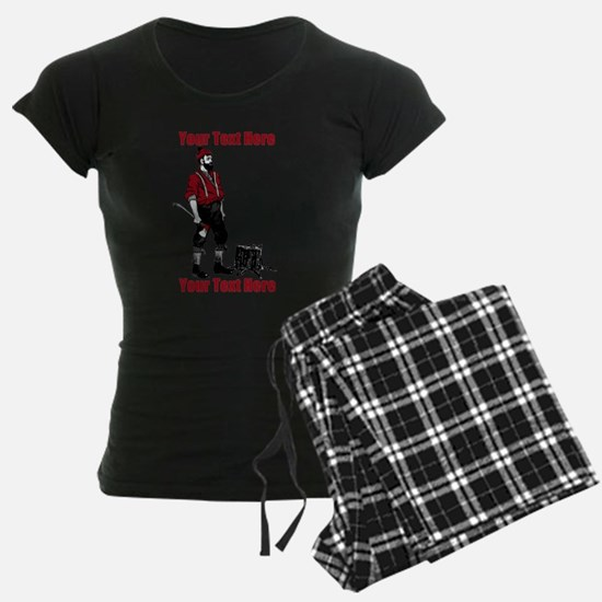 Lumberjack CUSTOM TEXT pajamas