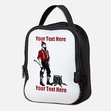 Lumberjack CUSTOM TEXT Neoprene Lunch Bag
