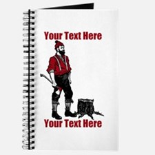 Lumberjack CUSTOM TEXT Journal