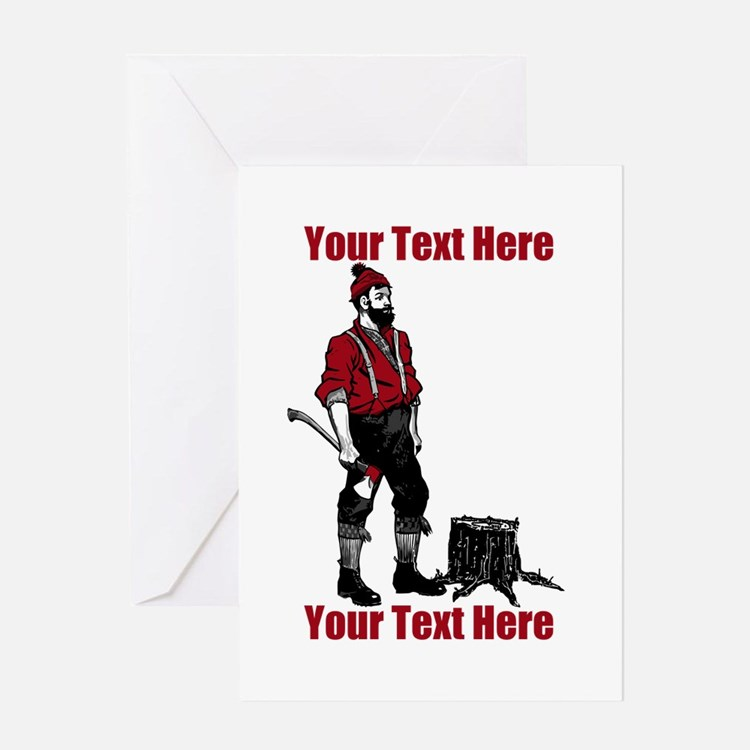 Lumberjack CUSTOM TEXT Greeting Card