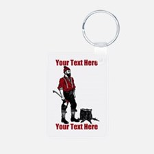 Lumberjack CUSTOM TEXT Aluminum Photo Keychain