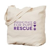 Imagine peace for pups Canvas Bags