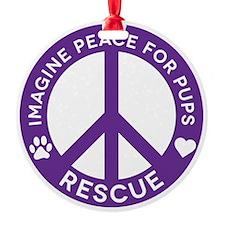 Imp4p Peace Logo Ornament