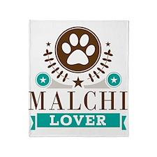 Malchi Dog Lover Throw Blanket