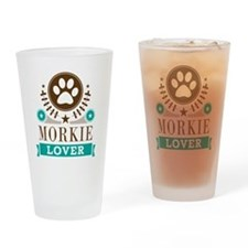 Morkie Dog Lover Drinking Glass