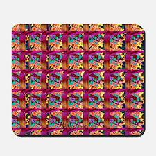Fractal Gnarly Tiles Stereogram Mousepad
