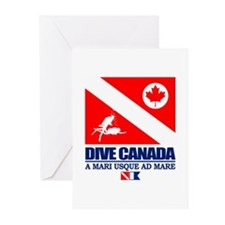 Dive Canada Greeting Cards
