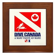 Dive Canada Framed Tile