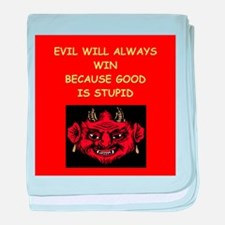 evil wins baby blanket