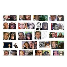 George Bush - Monkey Postcards (8)