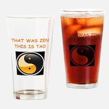zen and tao Drinking Glass
