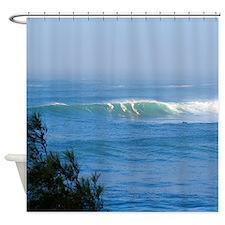 Waimea Bay Surf Hawaii Tropical Shower Curtain.
