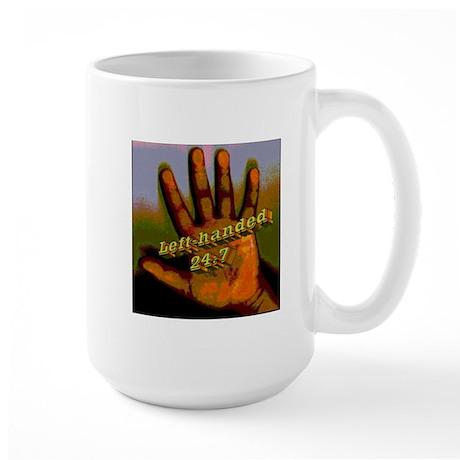 Left-handed 24:7 Large Mug
