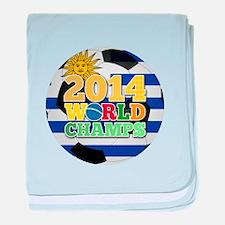 2014 World Champs Ball - Uruguay baby blanket